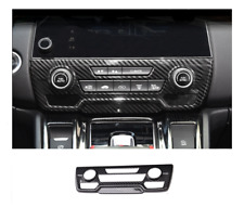 Carbon fiber style center console CD panel cover trim Honda CRV CR-V 2017-2018