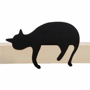 ARTORI Design Cats' Meow Oscar Cat Statue Figurine Silhouette Black Shelf Decor