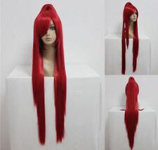 Rote lange Perücken & Haarteile aus Kunsthaar-Kunst