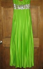 Masquerade Lime Green formal prom dress size 7/8