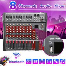 Professional 8 Channel Live Studio Audio Mixer Party USB Mixing KTV DJ Console