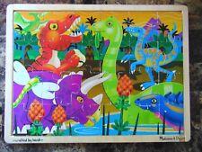 Melissa & Doug Prehistoric Dinosaurs at Sunset Wooden Jigsaw Puzzle 24 pcs