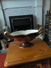 Vintage Crown Devon Fieldings pottery red/ruby/rouge lustre posy vase. 3293.