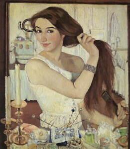 Zinaida Serebriakova Self-portrait Giclee Art Paper Print Poster Reproduction