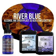 Epoxidharz EpoxyPlast 3D B20 RIVER BLUE Transparent Farbig Gießharz Epoxy Resin