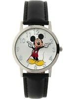Disney MCKAQ16003 Unisex Classic Mickey Mouse Black Band Analog Watch