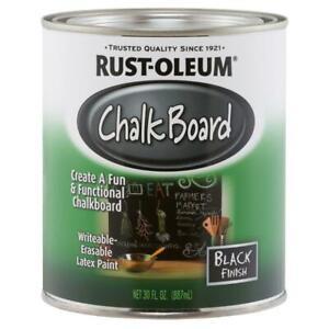 Rust Oleum Specialty Flat Black Chalkboard Paint Smooth Metal Plaster Wood 30 oz
