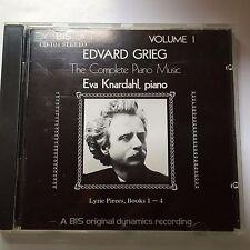 Grieg Lyric Pieces Books 1-4 - Eva Knardahl - Bis CD-104, Made in the UK.