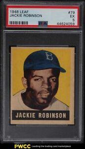1948 Leaf Jackie Robinson ROOKIE RC #79 PSA 5 EX