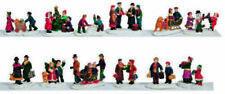 Figuritas de Navidad casas multicolores