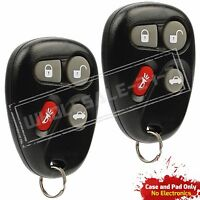 2 Replacement For 2001 2002 2003 2004 2005 Pontiac Grand AM Key Fob Shell Case