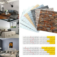10 x  3D Tapete Wandpaneele Wandtattoo Selbstklebend Ziegel Wasserfest Wand