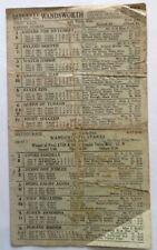 1943 WANDSWORTH GREYHOUND RACING RACECARD