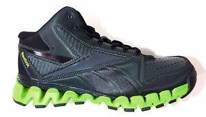 Reebok Big Kids' ZIGNANO PROFURY Shoes Gravel/Black/Green J94285