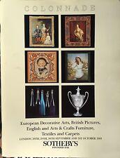 SOTHEBY'S Auction Catalog 9/28/1993 Europe Deco Arts Brit Pics Textiles Carpets