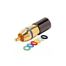 Eagle RCA Compression Connector RG6 Quad Coaxial Cable Gold Plated Permaseal II