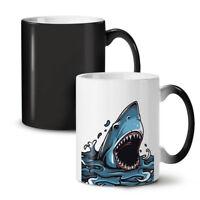 Shark Jaws Scary Animal NEW Colour Changing Tea Coffee Mug 11 oz | Wellcoda