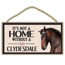 En Bois Décoratifs Cheval Signe - Not Maison sans Un Clydesdale - Décor