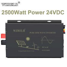 Wzrelb 2500W Pure Sine Wave Inverter 24V 120V Solar Power Converter Home System