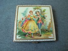 New ListingVintage Rex Fith Avenue celluloid courting scene enamel metal compact unused