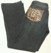 Karen Kane Denim Women's Embellished Pockets Dark Wash Jeans Size 4