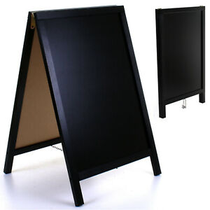 LARGE PAVEMENT SIGN BLACK CHALKBOARD A BOARD ADVERTISING EVENT DRY LIQUID CHALK