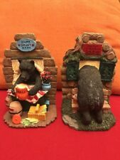 """Decorative Book Ends - """"Don't Feed The Bears"""" - Bear and Honey"""