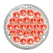 """LED light 4"""" pearl clear lens 24 red diodes 1156 Socket Peterbilt Freightliner"""