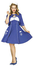 Fun World Women's Sweet Sailin' Plus Size Sailor Adult Costume 1X 16-20