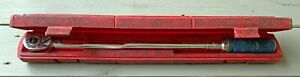 """SNAP-ON QJR-3200A 1/2"""" DRIVE CLICK TYPE TORQUE WRENCH 30-200 FT LBS WITH CASE"""