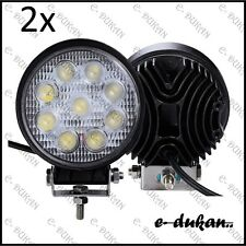 2x 9 CREE LED OFF ROAD/ FLOOD LIGHT BAR FOG LAMP 27W FOR ROYAL ENFIELD BIKE CAR