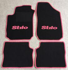 Autoteppich Fußmatten für Fiat Stilo 2001'-2007' schwarz pink 4teilig Neuware
