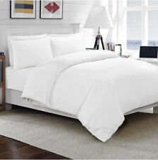 100 Egyptian Cotton Duvet Quilt Cover Set Single Double King Size Bed Sheets White King