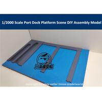 1/2000 Scale Port Dock Platform Scene DIY Wooden Assembly Model Kit