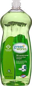 Clorox Commercial Solutions Green Works Manual Pot & Pan Dishwashing Liquid, 38