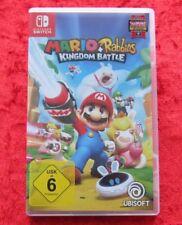 Mario + Rabbids Kingdom Battle, Nintendo switch juego, como nuevo, versión en alemán