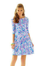 NWT Lilly Pulitzer Celia Fit & Flare Dress XS Multi La Playa - Stunning Low Back