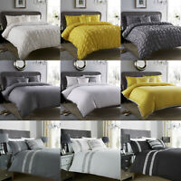 New Fancy Polycotton Duvet Cover Set with Pillow Cases Bedding All Sizes