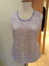 Just White Vest Top Size 18 BNWT Beige Winter White Paisley RRP £53 Now £24