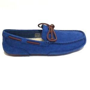 UGG Australia Chester Capra Royal Blue Slipper Moccasins Mens Size 8