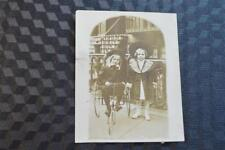 Vintage 1900s Photo Boy & Girl w/ Pedal Car Toy 869