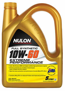 Nulon Full Synthetic Extreme Engine Oil 10W-60 5L SYN10W60-5