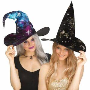 Fun World Deluxe Witch Wiccan Fancy Glitter Foil Halloween Costume Hat 93188