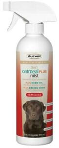 Durvet Naturals 3 in 1 Oatmeal Plus Mist Skin and Coat Care For Dogs, 17 Ounces