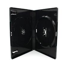 100 x 2 Fach AMARAY DVD Hüllen für 2 CD / DVD Hülle | 14mm Schwarz Doppelseitig