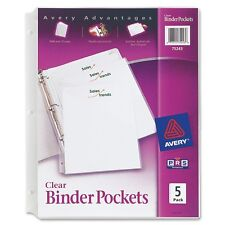 "Avery Durable 3-ring Poly Binder Pocket - Letter - 8.50"" X 11"" - 20 Sheet"