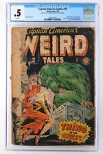 Captain America Comics #75 - CGC 0.5 PR - Timely 1950 - Weird Tales!