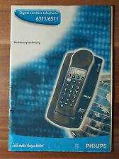 Mode d'emploi philips DECT Digital Cordless telephone 6311 6511