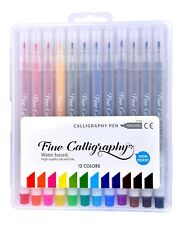 Calligraphy pen set of 12 assorted colours