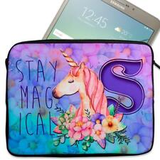 """Personalised Tablet Case MAGICAL UNICORN Neoprene Sleeve Cover 7"""" 8"""" 9"""" 10"""""""